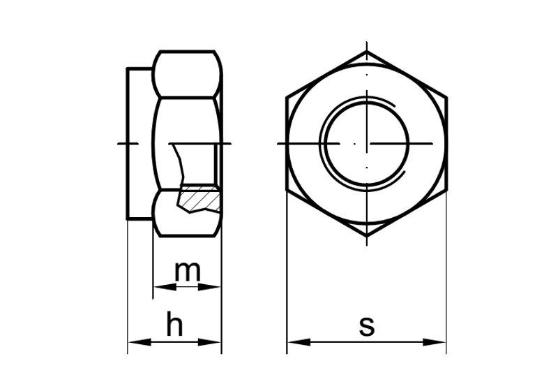 M12 Sicherungsmuttern 50 St/ück DIN 985 verzinkt Stopmuttern selbstsichernde Muttern Klemmmuttern Sechskantmuttern Sicherungsmutter Mutter