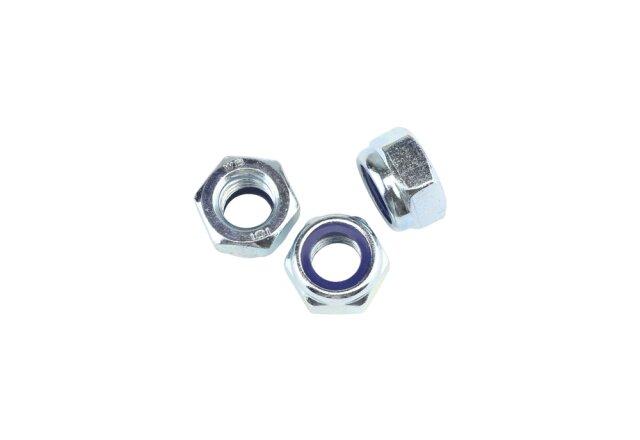 DIN 985 Sicherungsmutter M10x1,25 Stahl  verzinkt - Festigkeit 10