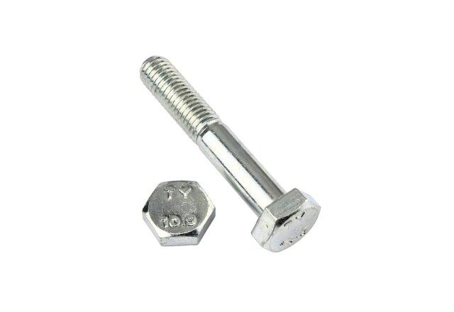 DIN 931 10.9 M16 x 85 verzinkt 25 Stk Sechskantschraube mit Schaft