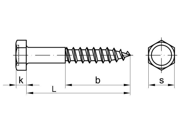 Unterschiedlich hex head wood screw DIN 571 M16 - Steel zinc plated, 0,35 € ES46