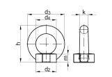DIN 582 Ringmutter Stahl  verzinkt