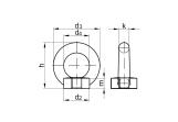 DIN 582 Ringmutter Edelstahl A2