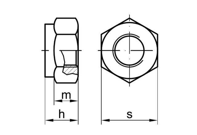 DIN 985 Sicherungsmutter mit Klemmteil M3 A2 M2,5