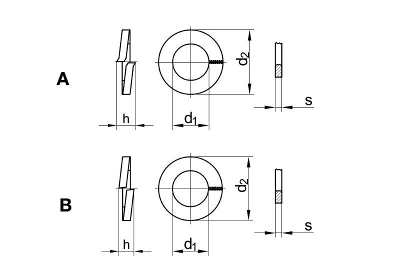 Sprengringe Sperringe 20 St/ück Federscheiben M14 Edelstahl A2 V2A Eisenwaren2000 rostfrei - Federringe DIN 127 Form B