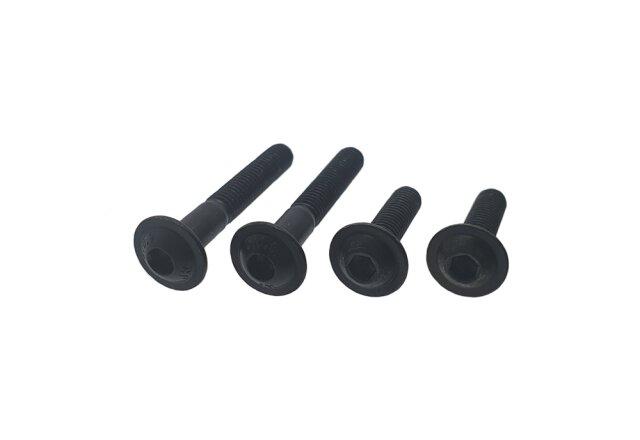 Flachkopfschrauben mit Innensechskant ISO 7380-1 010.9 Stahl blank M 3 M 6