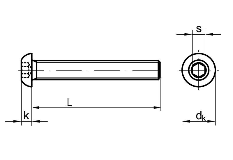 Linsenkopfschrauben M6 X 35 ISO 7380 mit Innensechsrund 20 St/ück - V2A Linsenschrauben Rundkopfschrauben Halbrundkopfschrauben ISR Edelstahl A2