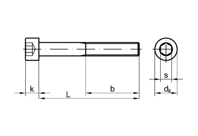 0.5 mm Pitch Schrauben Innensechskant-Cap Rändel-Schrauben 100 Stück M3 x 4 mm