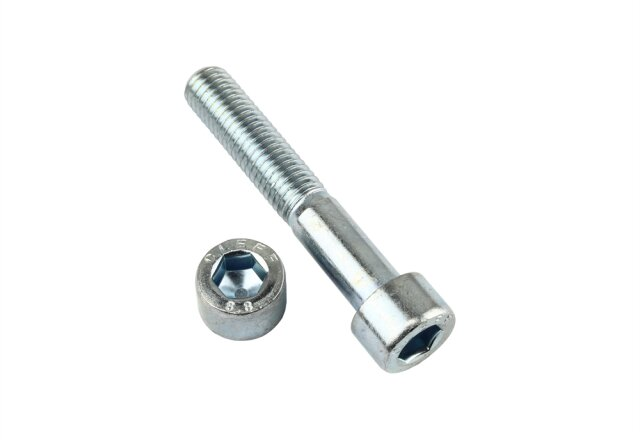 Zylinderschraube DIN 912 - M10 x 70 mm - Stahl 10.9 galv. verzinkt