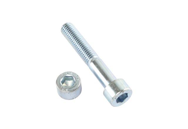 Zylinderschraube DIN 912 - M8 x 90 mm - Stahl 10.9 galv. verzinkt