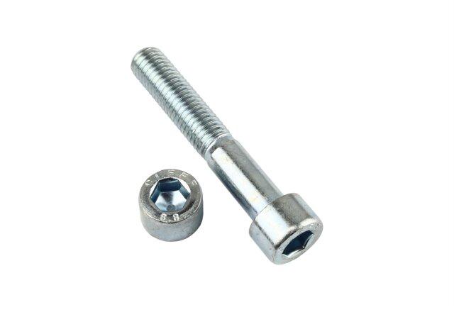 Zylinderschraube DIN 912 - M10 x 12 mm - Stahl 10.9 galv. verzinkt